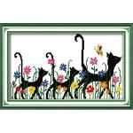 ИДЕЙКА вышивка. Чёрные кошки