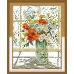 ИДЕЙКА вышивка Цветы на окне