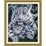 Вышивка крестиком Белые тигры
