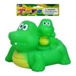 Пищалка крокодил с детенышами