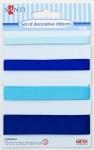 Набор лент декоративных, голубой