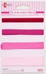 Набор лент декоративных, розовый