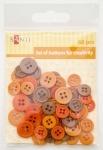 Набор пуговиц для творчества, оранжевый