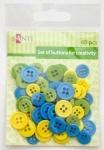 Набор пуговиц для творчества, сине-желтый