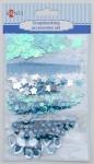 Набор декоративных украшений для скрапбукинга, голубой