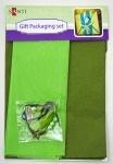 Набор для упаковки подарка,  зеленый-хаки