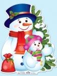Плакат новорічний.Сніговик (У)