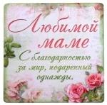 "МАГНИТ ""ЛЮБИМОЙ МАМЕ"""