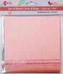 Набор розовых перламутровых заготовок для открыток,