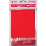 Набор красных заготовок для открыток