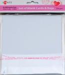 Набор белых текстурированных заготовок для открыток