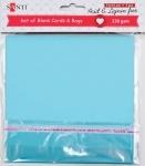Набор голубых заготовок для открыток
