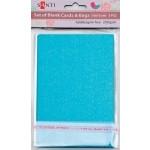 Набор голубых перламутровых заготовок для открыток