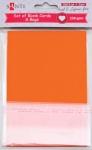 Набор оранжевых заготовок для открыток