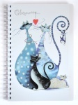 "Тетрадь А4 ""Glamour cats"" 144л."