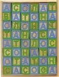 Кубики деревянные с русским алфавитом