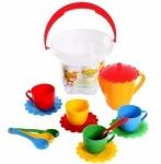 """Набор посуды """"Ромашка"""" в ведре 15 елементов (стандарт)"""