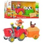 Машина-трактор с прицепом