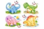 """Пазлы 4х1 """"Динозавры"""""""