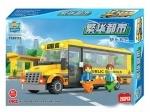 Конструктор Qiaoletong школьный автобус