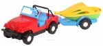 Машина-джип с прицепом-конюшней/кузовом