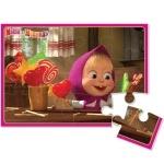 Пазлы мягкие А5 Маша с конфетами ТМ Vladi Toys