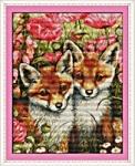 """Вышивка крестом """"Маленькие лисы """""""