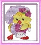 """Вышивка крестом """"Модный цыплёнок"""""""