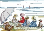 """Вышивка крестиком """"Дети на пляже 2"""""""