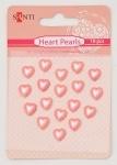 Набор жемчужин самоклеющихся сердечки розовые
