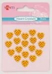 Набор кристалов самоклеющихся сердечки желтые, 18 шт