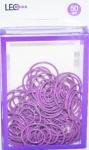 Скрепки круглые фигурные 50шт фиолетовые