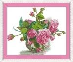 Вышивка крестиком Розовая фантазия