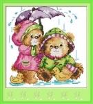 Набор для вышивки крестом Под дождём