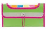 Папка на резинке 7 цветных карманов - неоновый зеленый
