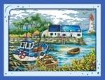 Вышивка крестом Портовый городок