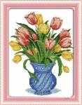 Набор для вышивки крестом Нежные тюльпаны