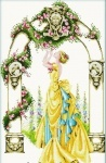 Вышивка крестом Цветочная арка