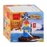 "Конструктор Brick ""Пираты"" плот"