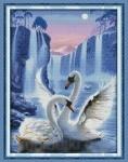 Вышивка крестом Лебединая пара 2