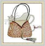 Набор для вышивки крестом Кошка в сумке 1