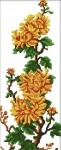 Вышивка крестиком Хризантемы
