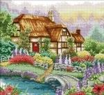 Вышивка крестом Цветущий дом