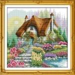 Вышивка крестиком Сказочный дом