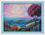 Вышивка крестом Фантастический пейзаж 1