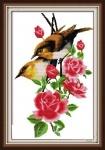 Вышивка крестом Птички на ветке 2