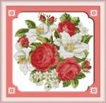 Вышивка крестом Розы и лилии