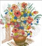 Вышивка крестиком Весенний букет