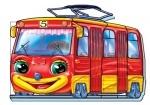 Кумедні машинки (міні) : Трамвай (укр)