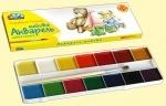 """Акварельные краски 14 цветов """"Любимые игрушки"""""""